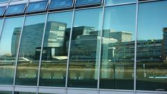 The Panorama Reflection (cokbilmis-foto) Tags: city reflection building window water architecture hotel harbor office media cityscape waterfront chairs harbour hyatt dusseldorf dsseldorf rhine rhein regency flossies medienhafen roggendorf almanya roggendorfhaus rx100