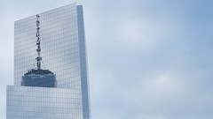 Trade Center, reflected (pburka) Tags: nyc sky reflection building glass architecture manhattan wtc