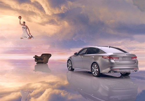 "Blake Griffin in ""Next Level"" ad campaign for Kia Optima - Screen grab from ""Newspaper"""