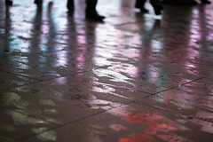 festive footprints (mjwpix) Tags: feet piccadillycircus pedestrians paving christmasshopping wetpavement ef85mmf18usm canoneos5dmarkiii michaeljohnwhite mjwpix festivefootprints