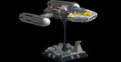 Y-Wing 1s=f: Display Stand (picardsbricks) Tags: starwars lego yavin anewhope ywing