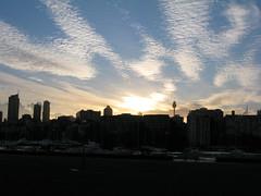 sidney darling harbour1 (1) (Parto Domani) Tags: new city sunset tower sol skyline wales del soleil town tramonto torre tour sonnenuntergang harbour south sydney coucher australia ciudad du stadt aussie puesta darling burj citt   aufsatz