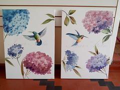 IMG_20151119_090852-001 (Imer atelie) Tags: decoração beijaflor parede pintura quadros telas hortencia decorativo feitoamao imeratelie