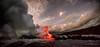 Beginning of time (Traylor Photography) Tags: sunrise evaporate tourguide vacation clouds lights morning ocean molten steam eruption sea distance hawaii smoke panorama bigisland crowded lava pāhoa unitedstates us
