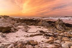 Asilomar Glow II (59roadking - Jim Johnston) Tags: ifttt 500px sunset orange pink beach sand rocks ocean asilomar pacific grove monterey california water waves seascape sea