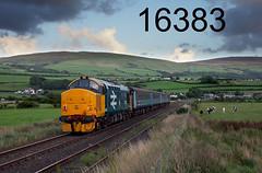 robfrance5d2_16383_080816_x37403_kirkby_in_furness_2c42_drs_nt_edr16lr3pse7weblowres (RF_1) Tags: 12csvt 2016 37 37403 brel britain class37 cumbria cumbrian cumbriancoast diesel dieselelectric directrailservices drs ee england englishelectric franchise freight haulage hauling kirkbyinfurness localtrain loco locomotive locomotivehauled locomotives mark2 mk2 nucleardecommissioningauthority passengertrain publictransport rail railfreight rails railway railways rural stoppingtrain train trains transport travel travelling uk unitedkingdom westmorland