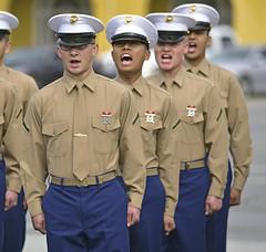 Liberty call (Jon_Marshall) Tags: scott marines marine bootcamp graduation platoon foxcompany companyf marinecorpsrecruitdepot sandiego mcrd shout military