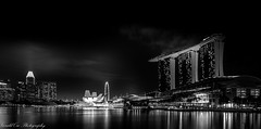 Marina Bay Sands Singapore (Gerald Ow) Tags: singaore mbs marina bay sands night photography long exposure geraldow bw cbd singaporeflyer the shoppes sony a7rii a7rm2 ilce7rm2 fe 1635mm f4 za oss bayfront thefloat flickr
