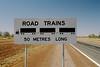 Australian sign in the Outback (Stefan Ulrich Fischer) Tags: streetsign roadtrain outback downunder australia analogue scanned landscape oz outdoor minoltaxd7 kodakektachrome