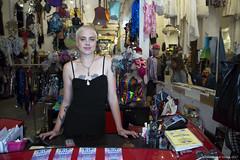 Justine (Ranga 1) Tags: australia australian streetphotography portrait justine market vintagegarage collingwood smithstreet girl woman shop shopping canon canoneos5dmarkiii ef24105mmf4lusm vintage davidyoung