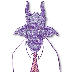 Business orc (Don Moyer) Tags: face ink drawing sketchbook moyer donmoyer brushpen orc
