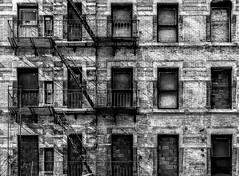 SOHO (Blende1.8) Tags: nyc ny new york newyorkcity urban abandoned verlassen decay decayed urbex feuerleitern feuertreppe outdoor outdoors carstenheyer city fassade facade architecture architektur soho fenster windows monochrome monochrom schwarzweiss black white canon eos 30d