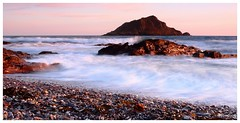 Mewstone backwash. (ronalddavey80) Tags: mewstone long exposure pebbles devon seascape beautiful light canon efs1585 nd waves