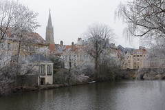 Ambiance hivernale (Fabien Husslein) Tags: metz moselle lorraine france temple garnison ville city givre frost hiver winter canal