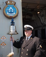 HMCS MONTREAL's Bell Sounds Out (Roger Litwiller -Author/Artist) Tags: roger litwiller collection hmcs montréal battle atlantic ships bell badge