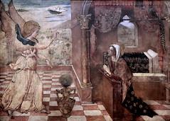 IMG_2106C Jacopo Bellini. 1396-1470 env Venise. La naissance de la Vierge. Annonciation. The birth of the Virgin. Annunciation.  Turin Sabauda. (jean louis mazieres) Tags: peintres peintures painting musée museum museo italie turin torino sabauda bellini