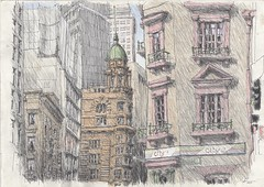 Hunter St, Sydney (Peter Rush - drawings) Tags: sydney nsw australia peterrush hunterst sketch drawing urbansketchers ur