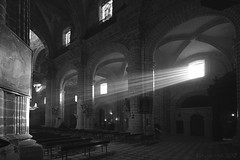 Let the Light in! (lunaryuna) Tags: windowswednesday cathedral interior architecture lightshadow blackwhite bw monochrome urban city walkinthecity sacralarchitecture lunaryuna