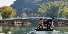 Rafting (GavinZ) Tags: china yangshuo boat raft bamboo bridge asia river water