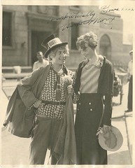 Harpo and Amelia Earhart (kevin63) Tags: lightner picture photo autographed harpo marx amelia earhart blackandwhite faded together street woman man aviator comedian vaudville movie mute silly curlyhair shorthair