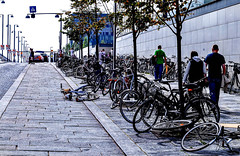 Bicycle parking at Copenhagen Mall (e.stromphoto) Tags: copenhagen denmark travel bicycle mall shopping scandanavia europe