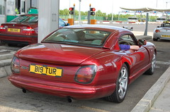 TVR Cerbera Speed Six MkII (D's Carspotting) Tags: tvr cerbera speed six mkii france coquelles calais red 20100613 b19tur le mans 2010 lm10 lm2010