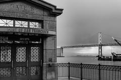 Port of San Francisco (thomasdwyer) Tags: port sanfran sanfrancisco harbour ocean bridge sf california cali ca usa america westcoast monochrome bw blackandwhite ferrybuilding baybridge bay oakland oaklandbaybridge