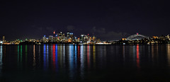Sydney Reflections Wide (Tranquil Night) Tags: cityscape nightscape sydney circularquay operahouse sydneyharbourbridge sydneycbd