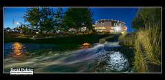 Autzen Stream (Dave Putzier) Tags: night oregon football dusk stadium ducks eugene autzen