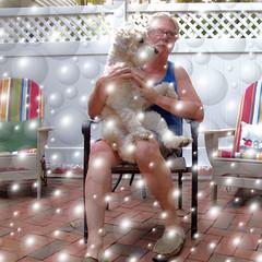Lapdog bubbles 27/365 (Eric.Ray) Tags: dog digital canon square bubbles days lap 365 selfie