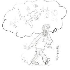 Captain Haddock (pvirpi) Tags: illustration sketch comic drawing cartoon sketchbook doodle tintin herge captainhaddock