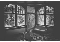 du Golf (Strange Artifact) Tags: urban bw white black abandoned golf lumix hotel decay g olympus du be exploration zwart wit weiss asph schwarz ue urbex em10 12514