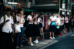Anyone Awake? (thisquietkid) Tags: street urban bus mobile thailand lost bangkok techno siam siamsquare bangkokcity