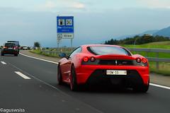 Ferrari 430 Scuderia (aguswiss1) Tags: auto road street car racecar moving movement strasse ferrari racing unterwegs exotic vehicle ontheroad rare scuderia supercar sportscar 430 road on car move super ferrari430scuderia