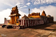 Gopalaswamy Betta (dines_photography) Tags: blue sky india temple