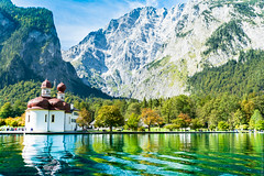 St. Bartholom Kirche (Marco Guinter Alberton (r)) Tags: travel germany de bayern deutschland berchtesgaden europe alemanha knigsee bavria schnauamknigssee