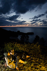 Warm sunset GIF (Athalfred DKL) Tags: light sunset love beach clouds atardecer couple warm amor asturias playa nubes animation animated gif llanes asturies animado niembro torimbia