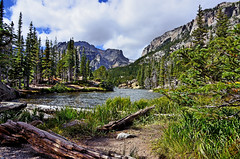 SUNNY LOCH VALE (Wolf Creek Carl) Tags: trees lake nature landscape rockies outdoors colorado rockymountain rockymountainnationalpark lochvale