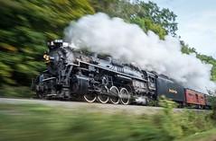NKP 765 at Track Speed (Nolan Majcher) Tags: road park railroad train lima scenic engine plate steam national valley works cuyahoga nickel locomotive berkshire excursion berk nkp 284 765 cvsr