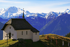 Kapelle Maria zum Schnee - Bettmeralp (ISO 69) Tags: elements