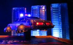 Corgi Toys Buick (Century) Regal Police Car No. 416 Converted Into A Futuristic Sci-Fi Hover Car : Diorama A Hover Police Car City Scene - 36 Of 98 (Kelvin64) Tags: city car century toys buick corgi no police scene scifi converted futuristic regal diorama hover 416 a into