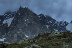 Nightfall (Stefsan (on and off)) Tags: blue france mountains alps green nature grass clouds canon landscape eos evening twilight rocks dusk 7d glaciers bluehour chamonix nightfall chamonixmontblanc aiguilleduplan alpinelandscape plandelaiguille stefsan massifmontblanc aiguilledesdeuxaigles ©stefansandmeier