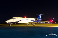 N810TD (Paul Beale Photography) Tags: night plane private paul photography airport shoot aircraft aviation jet gloucestershire 650 biz legacy staverton embraer beale buisness erj135 n810td
