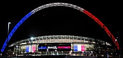 Wembley lit up like the French flag (Ben Sutherland) Tags: france wembley lamarseillaise englandvfrance liberteegalitefraternite frenchteam frenchfootball frenchfootballteam frenchfootballfederation francefootballteam parisattacks francefootballfederation