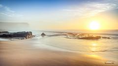 Foggy Sunrise at Garie Beach (Young Ko) Tags: sky seascape beach rock dawn rocks colorful nsw newsouthwales firstlight garie royalnationalpark gariebeach foggysunrise