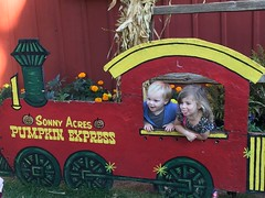 """Paul and Inde in the Sonny Acres Pumpkin Express • <a style=""""font-size:0.8em;"""" href=""""http://www.flickr.com/photos/109120354@N07/23224632475/"""" target=""""_blank"""">View on Flickr</a>"""