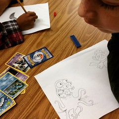Drawing lessons (the ghost in you) Tags: christmas kids cat snowman drawing kitty elementaryschool monsters timburton nightmarebeforechristmas frostythesnowman timburtonsthenightmarebeforechristmas