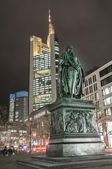 (arif_sert) Tags: city tower statue night town nacht frankfurt bank stadt belichtung commerzbank wolkenkratzer gece langzeitbelichtung gkdelen