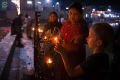 Pushkar Lake (Sugesh Gopal) Tags: lighting lake kid women faith culture fair divine celebration holy sacred pushkar diya 2015 indianwomen lamping kartikpoornima devdiwali foreignerboy