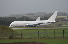 ZS-DJI parked. (aitch tee) Tags: southwales aircraft parked boeing airliner valeofglamorgan b767 stathan zsdji